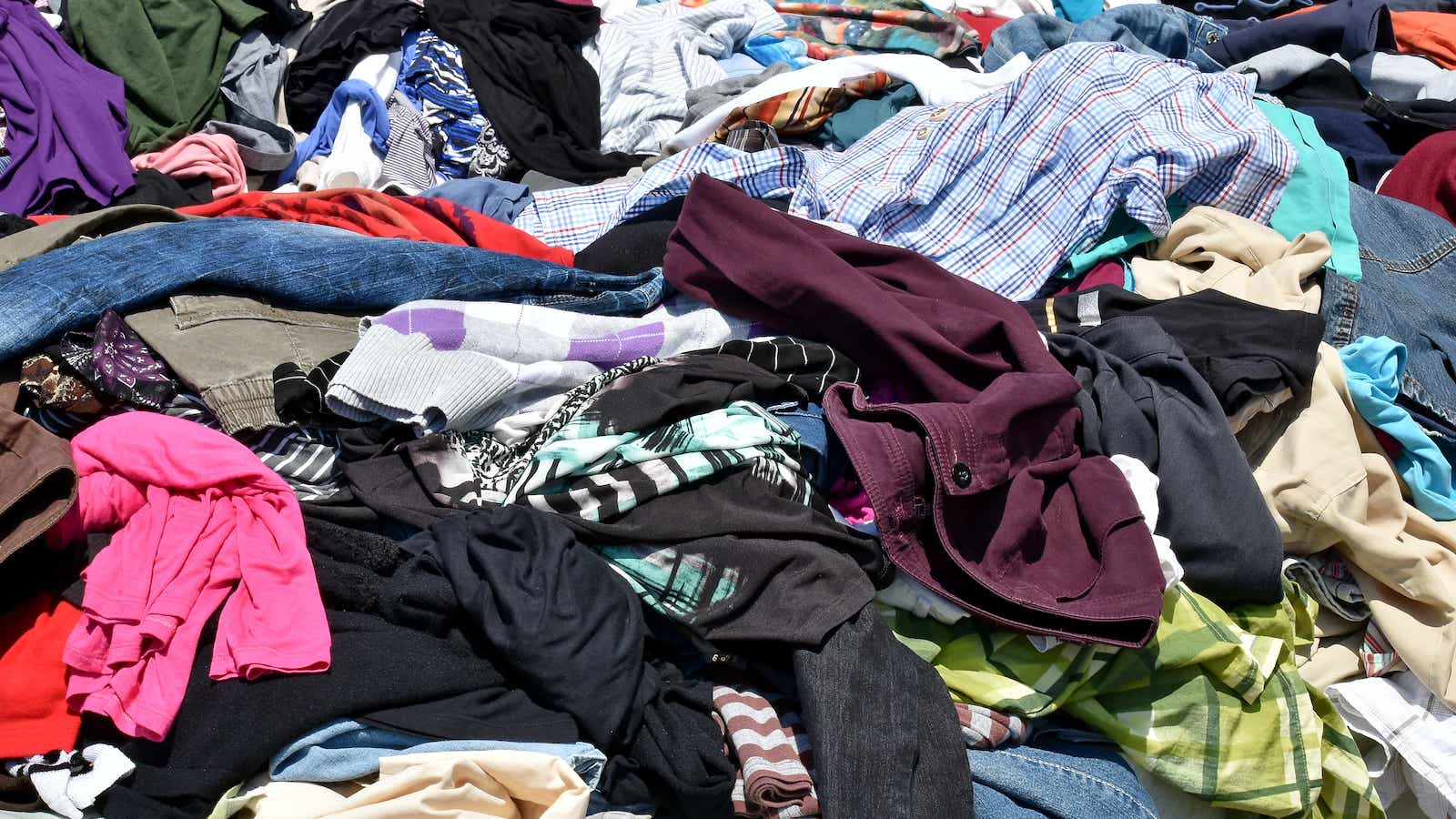 Pile of discarded clothing